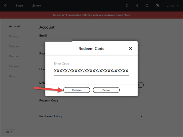 Enter your activation key, then click Redeem