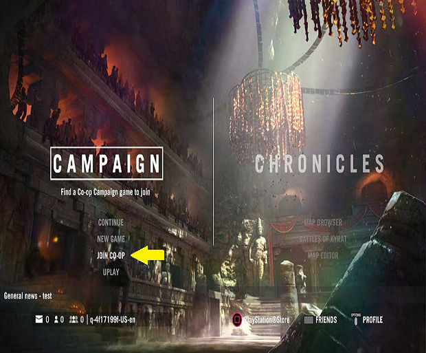 Co-Op on the Main Menu