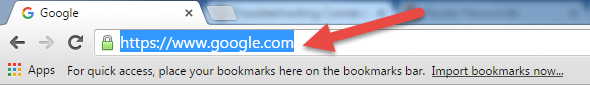 Default Address Bar