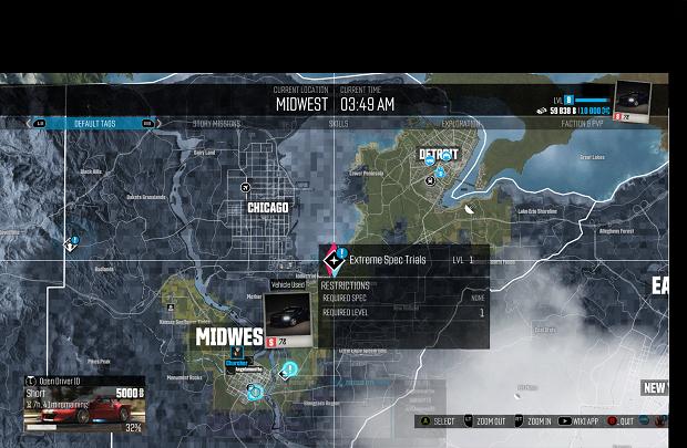 The Crew Extreme Spec Trials Location Map