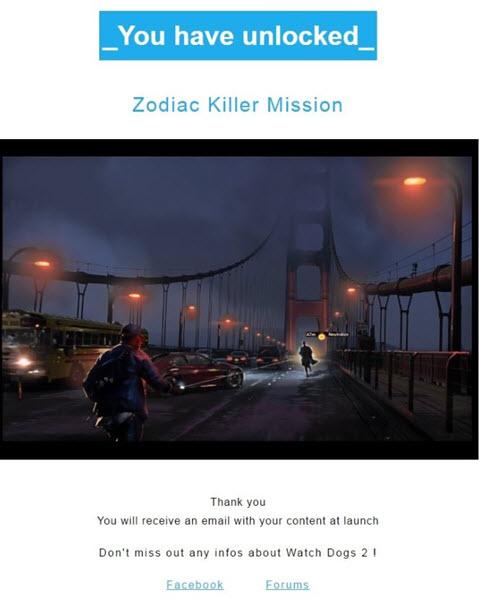Zodiac Killer Unlock Image