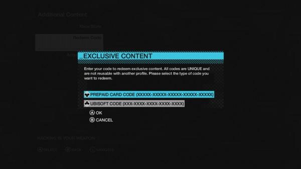 Select Ubisoft Code on the Xbox 360